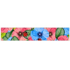 Floral Scene Flano Scarf (large)