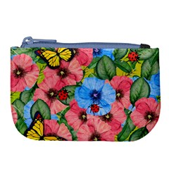 Floral Scene Large Coin Purse