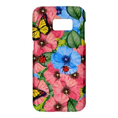 Floral Scene Samsung Galaxy S7 Hardshell Case
