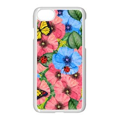 Floral Scene Apple Iphone 7 Seamless Case (white)