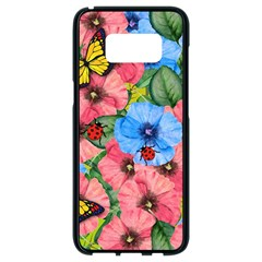 Floral Scene Samsung Galaxy S8 Black Seamless Case