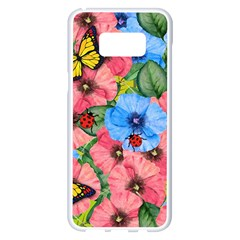 Floral Scene Samsung Galaxy S8 Plus White Seamless Case