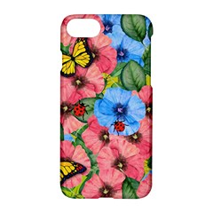 Floral Scene Apple Iphone 8 Hardshell Case