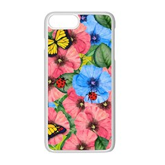 Floral Scene Apple Iphone 8 Plus Seamless Case (white)