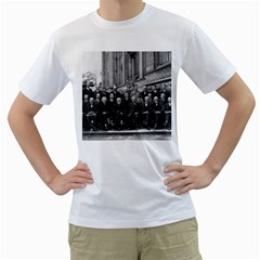1927 Solvay Conference On Quantum Mechanics Men s T Shirt (white) (two Sided)