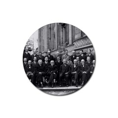 1927 Solvay Conference On Quantum Mechanics Rubber Round Coaster (4 Pack)