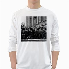 1927 Solvay Conference On Quantum Mechanics White Long Sleeve T Shirts