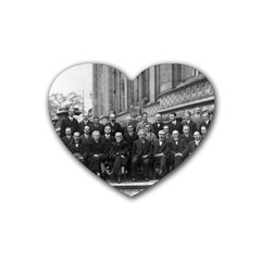 1927 Solvay Conference On Quantum Mechanics Rubber Coaster (heart)