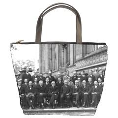 1927 Solvay Conference On Quantum Mechanics Bucket Bags