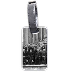 1927 Solvay Conference On Quantum Mechanics Luggage Tags (one Side)