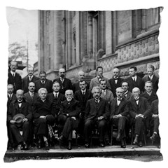 1927 Solvay Conference On Quantum Mechanics Standard Flano Cushion Case (two Sides)