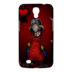 Funny, Cute Parrot With Butterflies Samsung Galaxy Mega 6 3  I9200 Hardshell Case