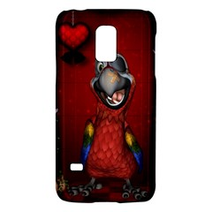 Funny, Cute Parrot With Butterflies Galaxy S5 Mini