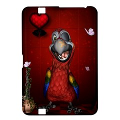 Funny, Cute Parrot With Butterflies Kindle Fire Hd 8 9