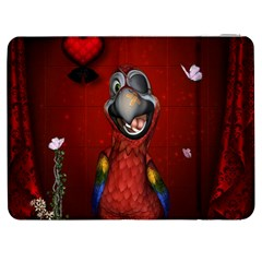 Funny, Cute Parrot With Butterflies Samsung Galaxy Tab 7  P1000 Flip Case