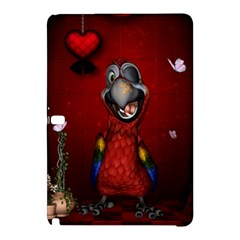 Funny, Cute Parrot With Butterflies Samsung Galaxy Tab Pro 10 1 Hardshell Case