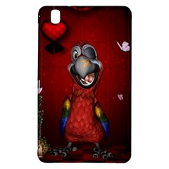 Funny, Cute Parrot With Butterflies Samsung Galaxy Tab Pro 8 4 Hardshell Case
