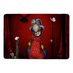 Funny, Cute Parrot With Butterflies Samsung Galaxy Tab Pro 10 1  Flip Case