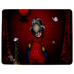 Funny, Cute Parrot With Butterflies Jigsaw Puzzle Photo Stand (rectangular)