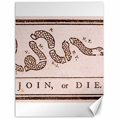 Original Design, Join Or Die, Benjamin Franklin Political Cartoon Canvas 12  X 16