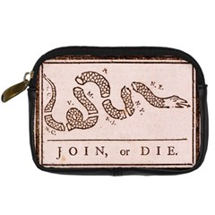 Original Design, Join Or Die, Benjamin Franklin Political Cartoon Digital Camera Cases