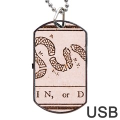 Original Design, Join Or Die, Benjamin Franklin Political Cartoon Dog Tag Usb Flash (two Sides)