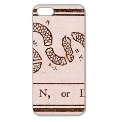 Original Design, Join Or Die, Benjamin Franklin Political Cartoon Apple Seamless Iphone 5 Case (clear)