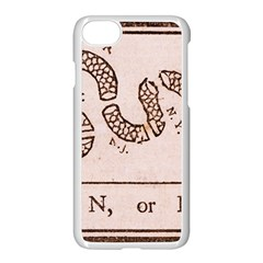 Original Design, Join Or Die, Benjamin Franklin Political Cartoon Apple Iphone 8 Seamless Case (white)