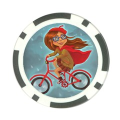 Girl On A Bike Poker Chip Card Guard (10 Pack)