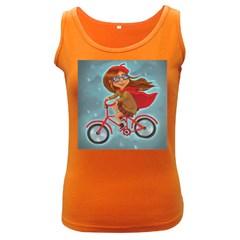 Girl On A Bike Women s Dark Tank Top