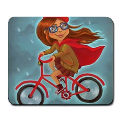 Girl On A Bike Large Mousepads