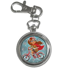Girl On A Bike Key Chain Watches