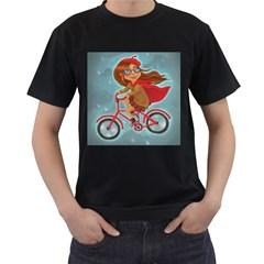 Girl On A Bike Men s T Shirt (black)