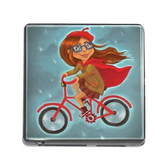Girl On A Bike Memory Card Reader (square)