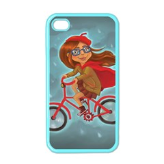 Girl On A Bike Apple Iphone 4 Case (color)