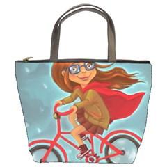 Girl On A Bike Bucket Bags