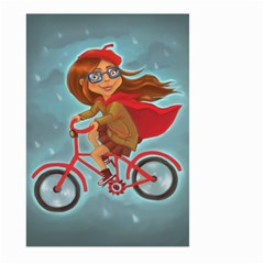 Girl On A Bike Large Garden Flag (two Sides)