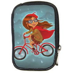 Girl On A Bike Compact Camera Cases