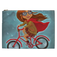 Girl On A Bike Cosmetic Bag (xxl)