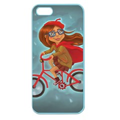 Girl On A Bike Apple Seamless Iphone 5 Case (color)