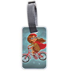 Girl On A Bike Luggage Tags (one Side)