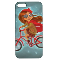 Girl On A Bike Apple Iphone 5 Hardshell Case With Stand