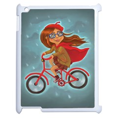 Girl On A Bike Apple Ipad 2 Case (white)