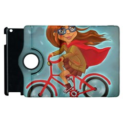 Girl On A Bike Apple Ipad 3/4 Flip 360 Case