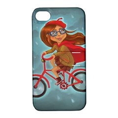 Girl On A Bike Apple Iphone 4/4s Hardshell Case With Stand