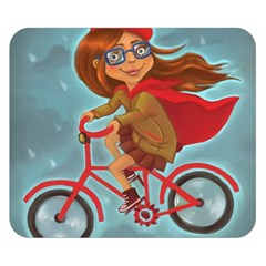Girl On A Bike Double Sided Flano Blanket (small)