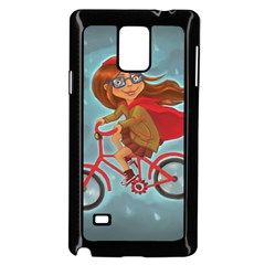Girl On A Bike Samsung Galaxy Note 4 Case (black)
