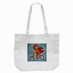 Girl On A Bike Tote Bag (white)
