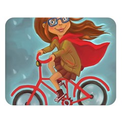 Girl On A Bike Double Sided Flano Blanket (large)