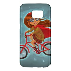 Girl On A Bike Samsung Galaxy S7 Edge Hardshell Case